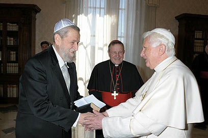 Pope Benedict and Rabbi Cohen 2009Mar